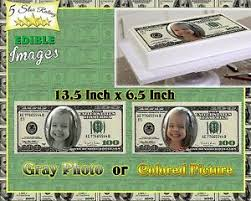 edible money money birthday cake topper edible picture image sugar paper
