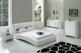 Nice Modern Bedroom Sets Creditrestoreus - White leather contemporary bedroom furniture