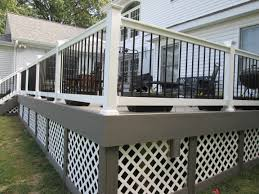 types of balusters for deck rails st louis decks screened