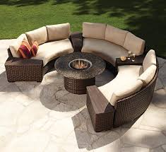 Patio Furniture Clearance Canada Outdoor Circle Brown Modern Stained Wooden Conversation Set With