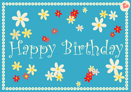 printable birthday card decorations awesome happy birthday card design with flower decorations and blue