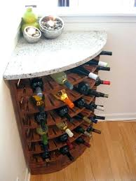 side table pottery barn kitchen design wine rack on side of