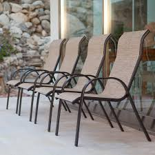 Stackable Sling Patio Chairs by Summer Winds Furniture Outdoor