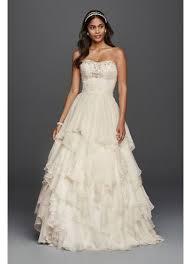 chiffon wedding dresses oleg cassini ruffled chiffon wedding dress david s bridal