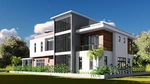 villa design sketchup modeling lumion render 2 stories villa design size 13 8
