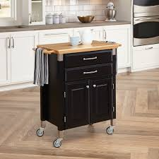 home styles dolly madison prep u0026 serve kitchen cart black