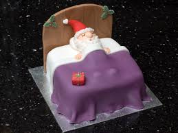 santa in bed cake google search christmas cake ideas