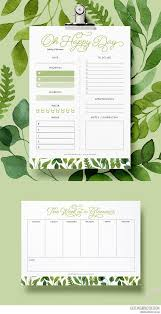 daily planner templates best 25 daily planner printable ideas only on pinterest daily daily and weekly free planner printables in stunning greenery colours