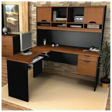 Black Glass L Shaped Desk by Furniture Outstanding Corner Computer Desk With Hutch Design