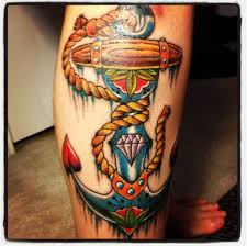 Off The Map Tattoo Anchor Leg Tattoo Art And Designs Page 3
