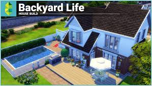 Sims House Ideas by Backyards Charming The Sims 4 House Building Backyard Life 86