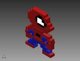 3d print model pixel spiderman cgtrader
