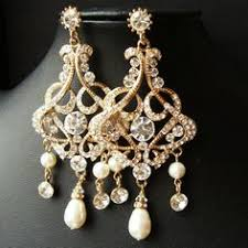 and pearl chandelier earrings pearl chandelier necklace set antique bronze necklace set