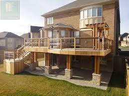 Backyard Decks And Patios Ideas by This Is The 2 Level Cedar Deck House 2 Level Cedar Deck With