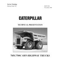 technical presentation cat 789c 785c 124045423 manual