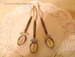 decoupaged vintage spoon ornaments thrifty rebel vintage