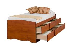 prepac cherry tall twin captain u0027s platform storage bed with 6 drawers