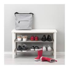 tjusig bench with shoe storage black 108x50 cm ikea