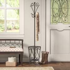 charlton home reichman metal coat rack with umbrella stand