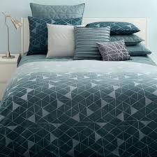 amazon com hugo boss teal prism geometric 3pc king duvet cover