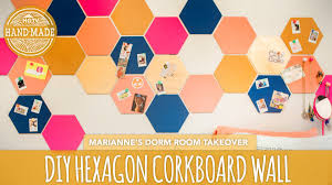 Dorm Wall Decor by Back To Diy Hexagon Corkboard Dorm Decor Hgtv Handmade