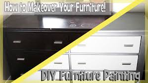 How To Repaint Wood Furniture by Diy Paint Bedroom Furniture Easy Youtube