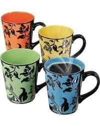 deal on mr coffee laurel 4 pc coffee mug set multicolor