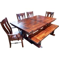 amish dining room tables qw amish bayfield plank table u2013 quality woods furniture