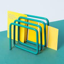 Modern Desk Tidy by Block Sketch Desk Tidy Blue Designer Desk Organiser