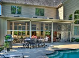 Backyard Screen House by Retractable Screen Room Traditional Porch St Louis By