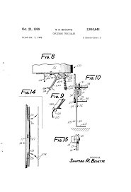 patent us2856845 christmas tree baler google patents