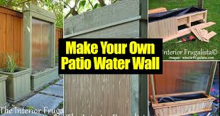 Backyard Feature Wall Ideas How To An Amazing Diy Patio Water Wall