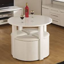 white space saver table space saving small breakfast white rustic dining kitchen room table