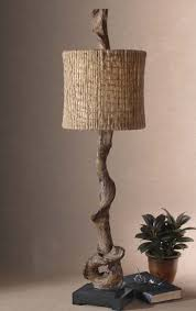 Buffet Lamps With Black Shades by Driftwood Rustic Buffet Lamp Western Lamps Weathered Driftwood