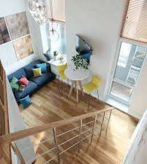 Small Loft by Small Studio Apartment In Moscow With Loft Bedroom Idesignarch