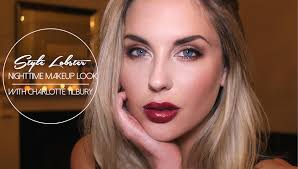 how to nighttime makeup look with charlotte tilbury style lobster
