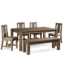 Dining Table 4 Chairs Set Canyon 6 Piece Dining Set Created For Macy U0027s 72