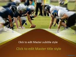 free american football ppt template