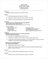 Mechanical Maintenance Resume Sample by Sample Maintenance Resume 8 Examples In Pdf Word