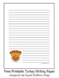 turkey lined writing paper a4 thanksgiving printables