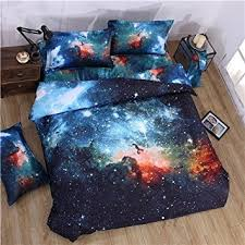 Space Bed Set 3d Mysterious Boundless Galaxy Colorful Outer Space