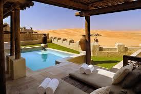 chambre d hotel avec piscine privative hôtel de luxe abu dhabi qasr al sarad