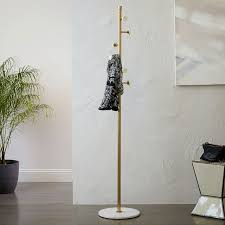 deco marble coat rack west elm
