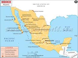 mexico on map airports in mexico mexico airports map