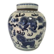 foo dog door knocker orange white foo dog temple jar the silver oyster