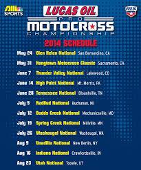 lucas oil pro motocross schedule 2014 lucas oil ama pro mx chionship calendar transmoto