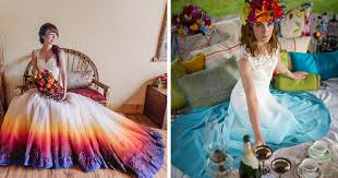 dip dye wedding dress dip dye dresses are the wedding trend for brides who don t