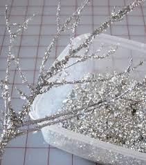 Christmas Decorations With White Branches by Diy Sparkle Branches Christmas Baby Shower Silver Paint And