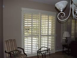 Plantation Shutters On Sliding Patio Doors Sliding Glass Door Coverings Spaces Traditional With Interior