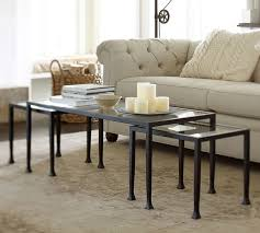 pottery barn nesting tables coffee table amusing pottery barn round coffee table pottery barn